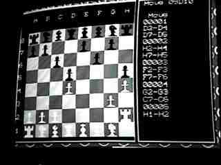 TV image of chess game